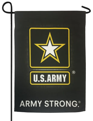 Army Black Sublimated Garden Flag