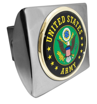 Army Green Seal Chrome Hitch Cover