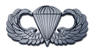 Army Parachute Chrome Car Emblem