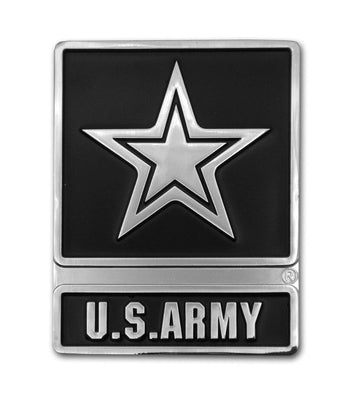 Army Star Chrome Car Emblem