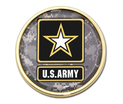Army Star Seal Camo Car Emblem