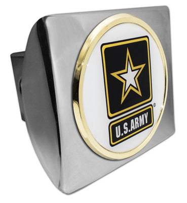 Army Star Seal Chrome Hitch Cover