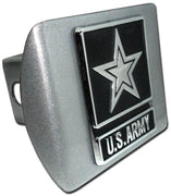 Army Star Brushed Chrome Hitch Cover