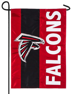 Atlanta Falcons Embellished Applique Garden Flag