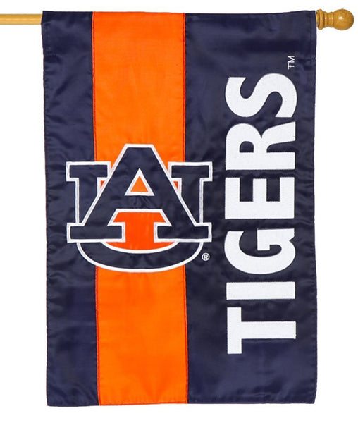 Auburn Tigers Embellished Applique House Flag - Sports Flags/College and University/Auburn University Flags - I AmEricas Flags