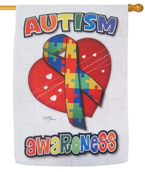 Autism Awareness House Flag - All Decorative Flags/Themes/Miscellaneous Flags - I AmEricas Flags