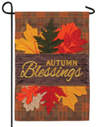 Autumn Blessings Double Applique Garden Flag