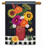 Autumn Blooms House Flag