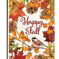 Autumn Leaves and Pinecones Garden Flag