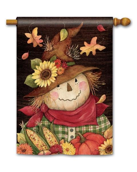 Autumn Scarecrow House Flag - I AmEricas Flags