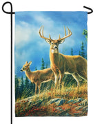 Autumn Whitetails Suede Reflections Garden Flag