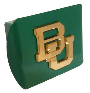Baylor University Gold BU Green Hitch Cover