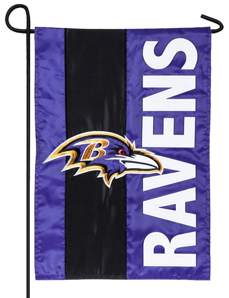 Baltimore Ravens Embellished Applique Garden Flag