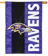 Baltimore Ravens Embellished Applique House Flag