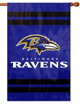Baltimore Ravens Applique House Flag