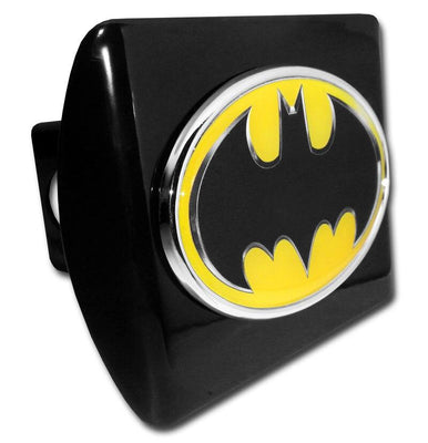 Batman Black and Yellow Oval Black Hitch Cover