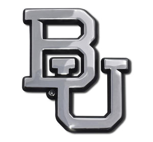 Baylor University BU Chrome Car Emblem