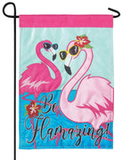 Be Flamazing Double Applique Garden Flag