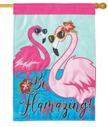 Be Flamazing Double Applique House Flag
