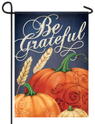 Be Grateful Pumpkins Garden Flag