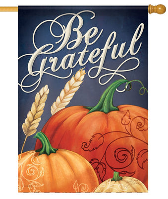 Be Grateful Pumpkins House Flag