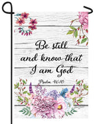 Be Still Know I Am God Garden Flag