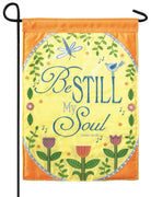 Be Still My Soul Double Applique Garden Flag