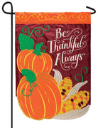 Be Thankful Always Double Applique Garden Flag
