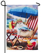 Beach Cats Suede Reflections Garden Flag