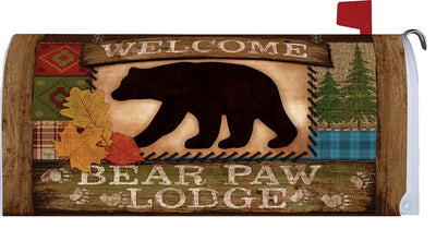 Bear Paw Lodge Welcome Mailbox Cover