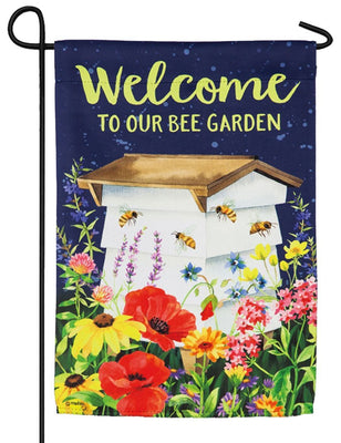 Bee Garden Suede Reflections Garden Flag
