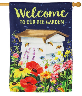 Bee Garden Suede Reflections House Flag