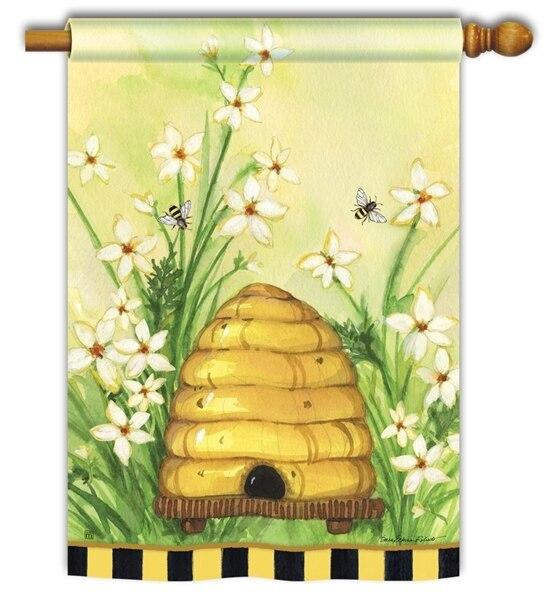 Bee Hive House Flag