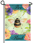 Bee Kind Bumble Bee Garden Flag