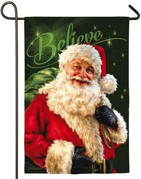 Believe in Santa Claus Suede Reflections Garden Flag - All Decorative Flags/Holidays/Christmas Flags - I AmEricas Flags