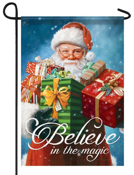 Believe in the Magic of Santa Garden Flag - All Decorative Flags/Holidays/Christmas Flags - I AmEricas Flags