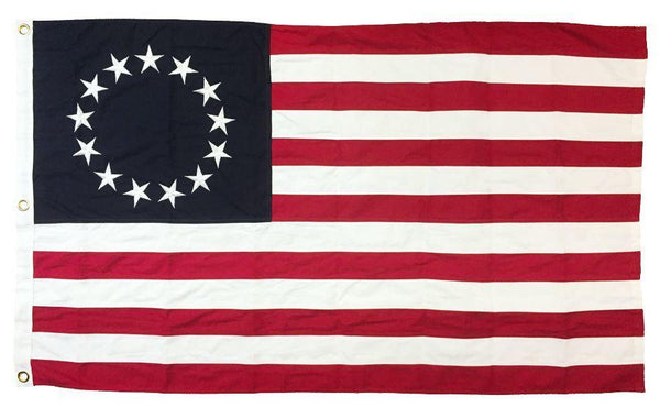 Betsy Ross Flag 3x5 Sewn Cotton - Historical Flags/Revolutionary War Flags - I AmEricas Flags