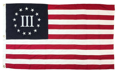 Betsy Ross Nyberg Three Percenter Flag 3x5 Sewn Cotton