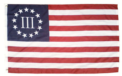 Betsy Ross Nyberg Three Percenter 3x5 Flag