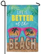 Better at the Beach Double Applique Garden Flag