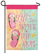 Better in Flip Flops Double Applique Garden Flag