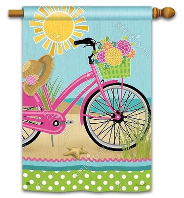 Bicycle on the Beach House Flag
