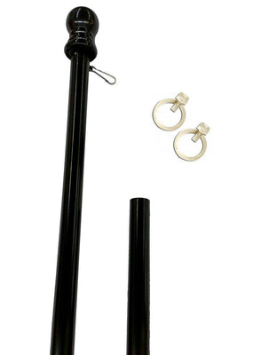 Black 6ft Spinning Aluminum Flagpole
