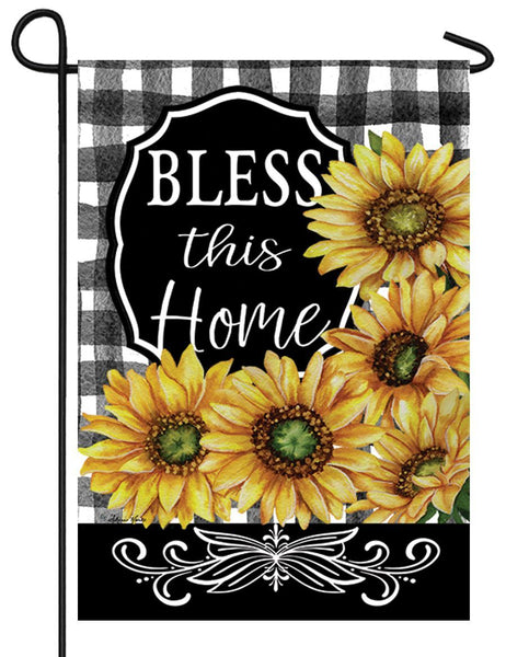 Bless This Home Sunflowers Garden Flag