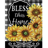 Bless This Home Sunflowers House Flag