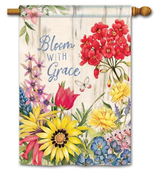 Bloom With Grace House Flag