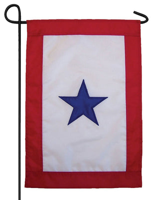 Blue Service Star Applique Garden Flag