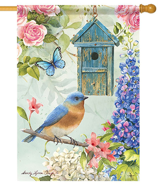 Bluebird Birdsong House Flag