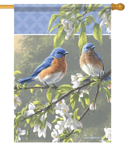 Bluebird Misty Morning House Flag