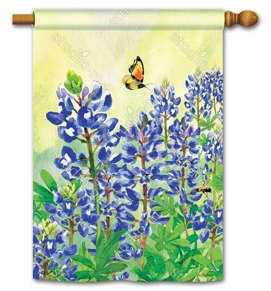 Bluebonnet Dream House Flag